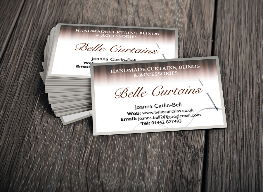 Business Card Design - Belle Curtains