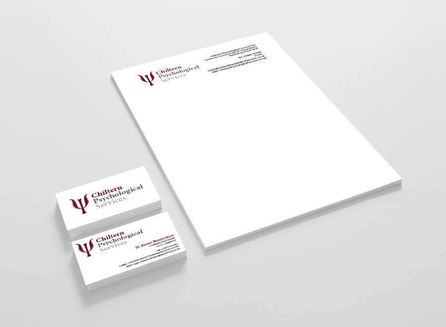 Business Stationery - Chiltern Psychological Services