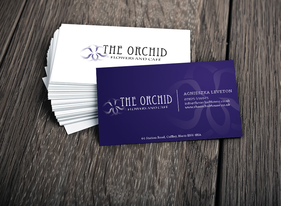 Business Card Design - The Orchid